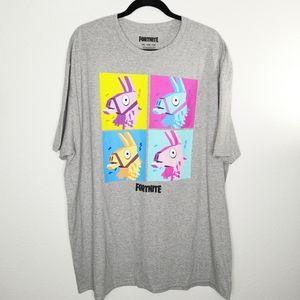 Fortnite Graphic Print Llama Short Sleeve T-Shirt